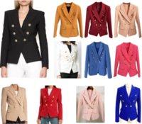 Womens Suits Blazers Herfst en Winter Casual Slanke Vrouw Jas Mode Lady Office Suit Pockets Zakelijke Knipperde Jas 22 Kleuren Opties