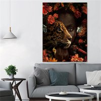 Modern Art Woman and Animal Wall Painting Immagini Art Dropshipping Home Decor Canvas Poster Stampe No Frame Wall Art Stampa 709