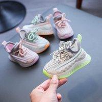 حذاء رياضة الطفل الرضيع أول مشوا طفل أحذية الأطفال الأخفاف الفتيات الناعمة الفتيات الأحذية عارضة الصيف الاطفال الأحذية الرياضية 0-3T B8080