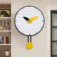 Horloges murales Dessin animé Modern Enfants Minimaliste Création Creative Office Pendulum Horloge Acrylique Silencieux Baguette Silencieux UHR Chambre Décor DM50WC