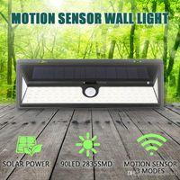 IP65 impermeabile 34/54/66/09 LED lampade solari Lampade luminose 2835 SMD White Power Outdoor Garden Lights PIR Motion Sensor Sensor Pathway Lampada da parete