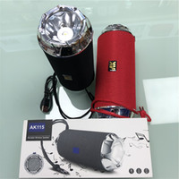 Sperkers AK115 سماعات بلوتوث سيارة لاسلكية محمولة ميني MP3 سوبر باس مكالمة تلقي مع FM FlashLigt وظيفة
