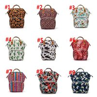 Sunflower Diaper Bag Leopard Mommy Backpack Waterproof Nappy Bag Large Capacity Travel Backpack Baby Nursing Bags Sea Shipping WWA212