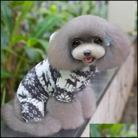 Supplies Home & Gardendog Coat Hoodies Winter Dog Fashion Pet Puppy Warm Coral Fleece Clothes Reindeer Snowflake Jacket Apparel S-Xxl Bc Dro