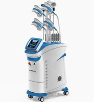Multifunzione Cryo Slimming Super 360 Cryotherapy 4 Maniglie Lavorare insieme Cryolipolysis + Cavitazione + RF + Lipolaser Doppio mento di rimozione con maniglia 5 Maniglia