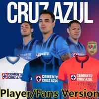 21/22 Liga MX Cruz Azul Futebol Jerseys Vende Versão Jogador Campeonas 2021 2022 Rodriguez Pineda Alvarado Romo Futebol Camisa Men + Kits Kits Uniforme