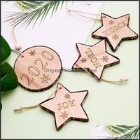 Christmas Festive Party Supplies Home & Gardenchristmas Decorations Tree Openwork Wooden Pendant Creative Closet Xmas Kids Gift Diy1 Drop De