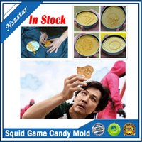 TV Squid Game Sugar Biscuit Tools 1 Set Candy Cake Mold Tool Halloween Party Games Umbrella Round Triangle DIY Creative Kitchen Bakeware