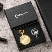 Pocket Watches Exquisite Train Design Case Watch Quartz With Gift Box Necklace Fob Clock High Grade Gifts Sets