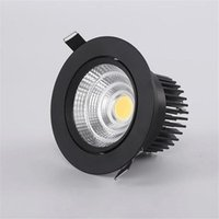 LED Downlight Dimmable Lampe 12W 15W 20W 30W 40W COB-LED-Spot AC 110V 220V Deckeneinbau-Downlights Runder Panel-Licht