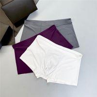 2021 hommes designers boxeurs marques sous-vêtements Sexy Classic Hommes Boxer Casual Street Sous-vêtement Sous-vêtements Sous-vêtements de coton respirant 3pcs avec boîte