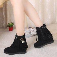 Boots 2021 Autumn Women Platform Shoes Chunky Sneakers Black Botas De Mujer