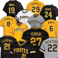Pittsburgh 21 Roberto Clemente Piratas Piratas Baseball Jerseys Chris Archer Kent Tekulve 8 Willie Stargell Starling Marte Colin Michael Perez José Soriano