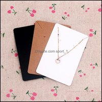 Tags, Packaging & Jewelry6*9Cm 100Pcs Lot Jewelry Display Card Price Tag Kraft Paper Earring Holder Necklace Cards Can Custom Logo 144 W2 Dr