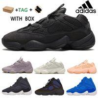 2021 Kanye West 500 Erkek Koşucu Ayakkabı Yumuşak Vizyon Taş Kemik Beyaz Utility Siyah Süper Ay Sarı Yansıtıcı Erkek Kadın Açık Sneakers # Bn