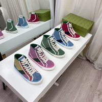 Designers Tênis 1977 Sneaker Luxurys Sapatos de lona Mulheres Homens Lavados Jacquard Denim Trainer Ace Borracha Sola Bordada Sneakers De Couro Vintage