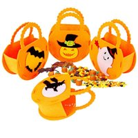 Halloween Decorations Non-woven Tote Bag Party Supplies Ghost Festival Children Gift Bags NHA8722
