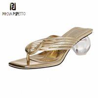 Prova Perfetto Solide Flip Flops Frauen Sandalen 2020 Kugel Fersen Pumps Sommer Strand Hausschuhe Basic Kreuzgürtel Sandalen Schuhe Frau A3PR #