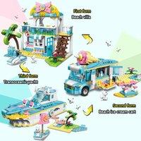 Tailakakers Expert 3 в 1 комплектах пляжный дом мороженое автомобиль корабля лодка друзья для девочек строительные блоки кирпичи создатель игрушки 0215