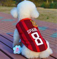 Cão desporto de cão animais de estimação futebol futebol jersey estilo macio colete respirável basquetebol tshirt mola sublimação de verão impressão cor rápida