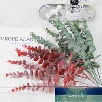 Yapay Okaliptüs Bitkileri Kısa Dalları Plastik Okaliptüs Çiçek Düzenlemesi Yapay Sahte Wending Parti Dekor için