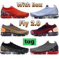 Avec boîte Fly 2.0 Chaussures de course Gym Blue Heel Teel Équipe graphique Orange Cheetah Noir Alunminum Orca Rose Gold Hommes Hommes Sneakers Femmes Formatrices