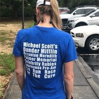 HAHAYULE-JBH Michael Scott Fun Run T-shirt Unisex O escritório TV Show Engraçado Tee Mifflin Camiseta 210317