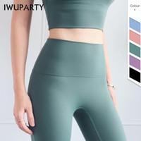 IWUPARTY Buttery-Soft голые-ощущение спортивной фитнес нажимает леггинсы женщин супер эластичный тренажерный зал спортивные колготки высокие талии Йога штанты1