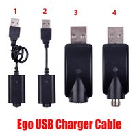Ego USB Charger Electronic Cigarette E Cig Wireless Chargers Cable For 510 Ego T C EVOD Twist vision spinner 2 3 mini battery