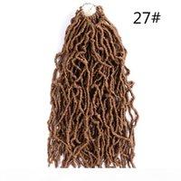 18inch 여신 가짜 locs 곱슬 크로 셰 뜨개질 머리 껍질 컬러 꼰 머리 90g PC 소프트 짧은 크로 셰 뜨개질 머리 nu locs 짧은 크로 셰 뜨개질 머리