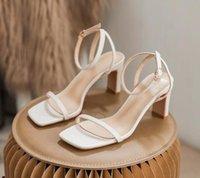 Women Lock IT Sandals Luxury high Heels Metallic laminate leather mid-heel sandal suede designer summer beach wedding shoes 35-41 with box
