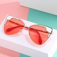 النظارات الشمسية زهرة شخصية الاتجاه القط العين الفولاذ المقاوم للصدأ نظارات الشوارع اطلاق النار المنصة المحيط اللون الأشعة فوق البنفسجية النساء