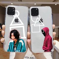 Halloween gifts TV Squid game clear phone cases for iphone 13 12 mini pro max 11 Movie Ren man soft TPU PC shockproof case Transparent shell