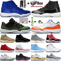 2020 Yeni Jumpman 11 Düşük Beyaz Bred 11'leri Erkek Basketbol Ayakkabı Heiress Gece Maroon Pantone düşünün Beyaz Yılan Kadınlar Trainer Sneaker Boyut 13