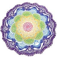 Torla de impresión poligonal Toalla de baño de toalla de yoga Lotus Lotus Lotus Blanda de playa Manta de protección solar