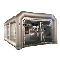 Tents And Shelters Car Lacquer Packing Garage Paint Inflatable Spray Booth Tent Cotton Filter Mobile