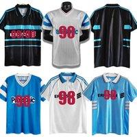 MAILTOT de Foot Marseille Retro Soccer Jerseys 1990 1991 1992 1993 1998 1999 2000 2011 2012 Deschamps Pires Classic Vintage Football Hemd Boli Payet Papin Remy Black