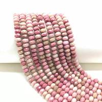 Outros preços de fábrica Pedra natural Rhodonite Faceted Rondelle Loose Beads Jóias Cura Energia DIY Bracelete Colar 4x6mm 5x8mm