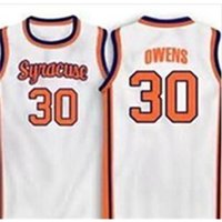 Vintage 21SS 30 Billy Owens Syrakus 1991 Maschengewebe Full Stickerei Jersey Größe S-4XL oder benutzerdefinierte Name oder Nummer College Jersey