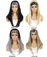 Synthetic Wigs Vunshina Headband Wig Box Braids Crochet Hair Grey Ombre With Scarf For Women African Braiding Head Band