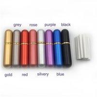 Diffuseur en aluminium Diffuseur Nasal Inhalateur Bouteilles rechargeables pour les huiles essentielles d'aromathérapie avec des mèches de coton de haute qualité