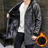 Men's Jackets Wool coat trench men fashions fingerprint winter harajuku jacket casual male outwear hip hop men's 5D59