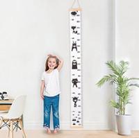 Diagrammi di altezza dei bambini Ins Ins Gruppo di crescita del bambino Misura di altezza per la casa / Camere per bambini fai da te Cartoon righello righello Decalcomanie Decorazione muro YL464