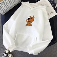 oversized 3XL Cute Dog Print Sweatshirt women clothes Hoodie...
