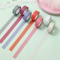 2016 10m cores grade washi tape papel japonês diy planejador mascaramento fita adesiva fitas adesivos artigos de papelaria decorativos fitas