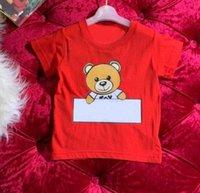 Baskı Çocuklar Tshirt Toddler Erkek Kız Kısa Kollu T-shirt Moda Çocuk Rahat O-Boyun Gömlek Bebek Giysileri Tee Tops