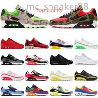 Nike Air Max90 Yeni 90 Erkek Açık Ayakkabı Kadın Eğitmenler Ters Ördek Camo Kızılötesi Üniversitesi Kırmızı Bred Serin Gri Erkekler Nefes Spor Sneakers