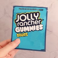Jolly Ranchher Sac 600mg Stocking Edibles Gummies Soux Soudure Preuve refente Emballage refermable Zipper Mylar Sacs Grossistes