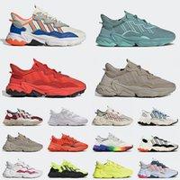 adidas ozweego 2021 Top Qualität Flache Freizeitschuhe Sneakers Weiß Multi Steel Trace Khaki Bold Orange Herren Damen Mode Trainer Sport