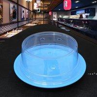 스시 접시 뷔페 컨베이어 벨트 스시 재사용 가능한 투명 케이크 접시 커버 레스토랑 액세서리 RRD11050 용 플라스틱 뚜껑